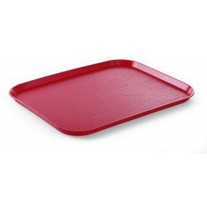 Tava servire din polipropilena, 350 x 450 mm, rosie, Hendi