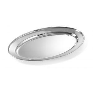 Tava servire ovala, 400x260 mm, inox,