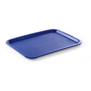 Tava servire, polipropilena, dimesiuni 30.5x41.5 cm, albastra, rezistenta la temp de max 80 gr C