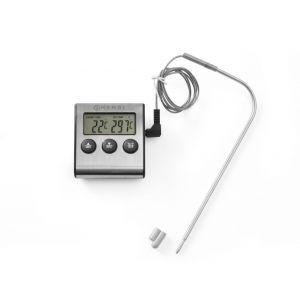 Termometru digital cu timer de bucatarie, otel inoxidabil