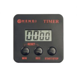Timer digital bucatarie, cu clip magnetic, plastic ABS, 6,7x6,7 cm, Hendi