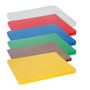 Tocator galben 450x300x(H)12.7 mm, polietilena HDPE 500, respecta normele de igiena HACCP,
