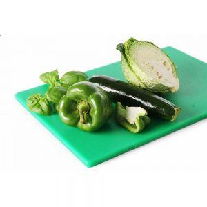 Tocator HACCP, pentru fructe si legume, polietilena, 45x30x1,27 cm, verde