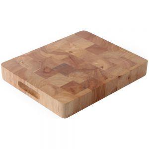Tocator, lemn de cauciuc, GN 1/1, 53x32,5x4,5 cm