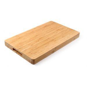 Tocator masiv din lemn de bambus, 33 x 25 x (H) 4 cm,