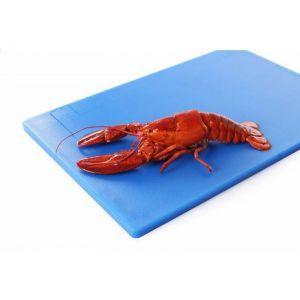 Tocator profesional albastru 60x40x1.8 cm, 2 fete pt taiat, respecta normele de igiena HACCP