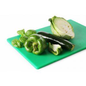Tocator profesional verde, 60x40x(H)1.8 cm, 2 fete pt taiere, respecta normele de igiena HACCP