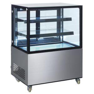 Vitrina frigorifica de prezentare interval temp. 2/6°C, corp inox, 300 litri, 480 W ARKTIC by, 915x675x(H)1210 mm