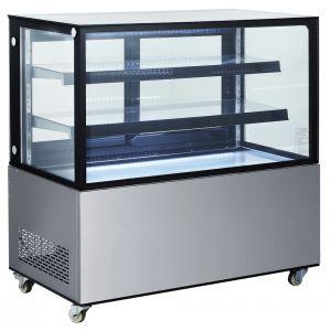 Vitrina frigorifica de prezentare interval temp. 2/6°C, corp inox, 510 litri, 490 W ARKTIC by, 1515x675x(H)1210 mm